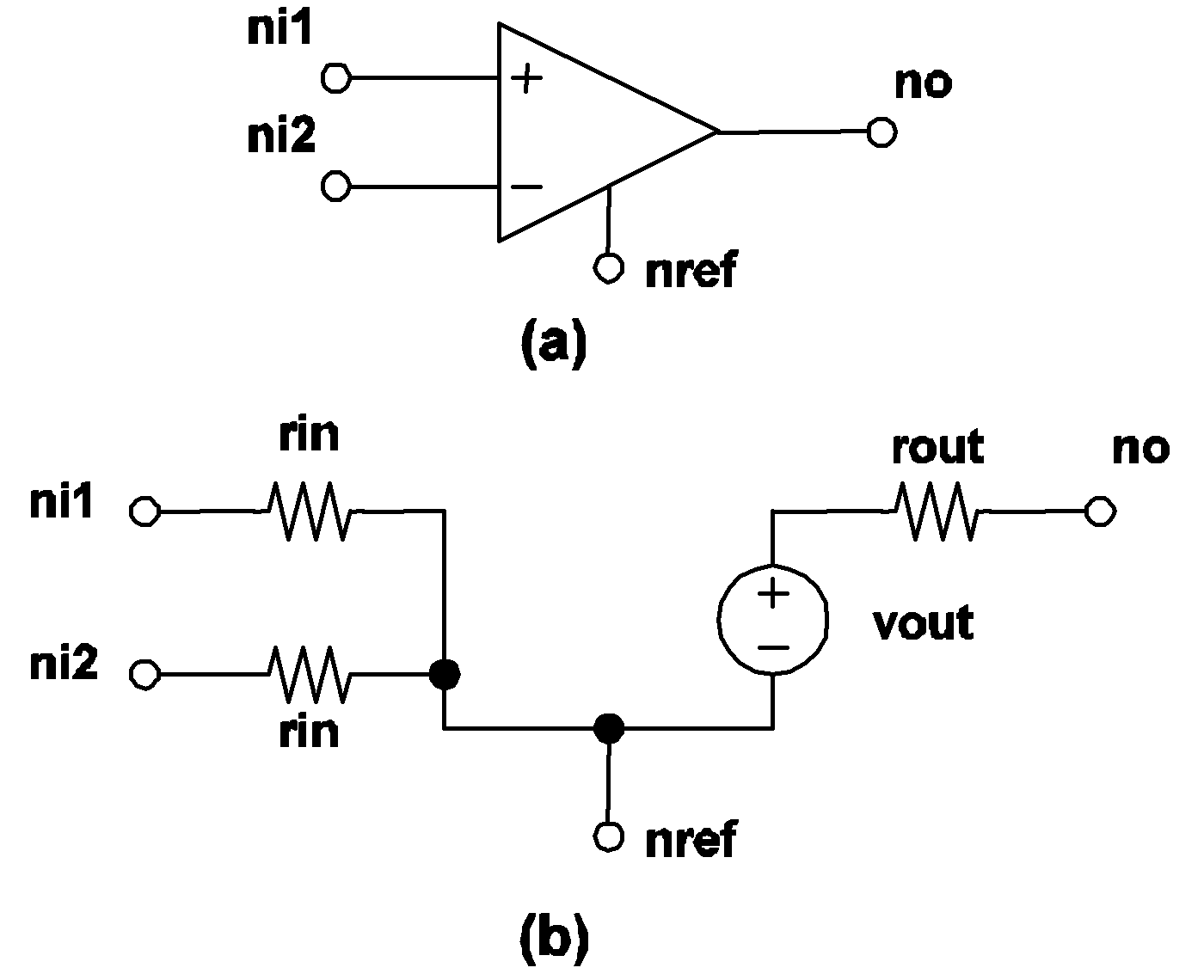 Simplis reference device models used in simplis 49 simplis comparator model a symbol for comparator b model for comparator the nodes n1 n2 are the two input nodes the nodes no and nref are the biocorpaavc Images