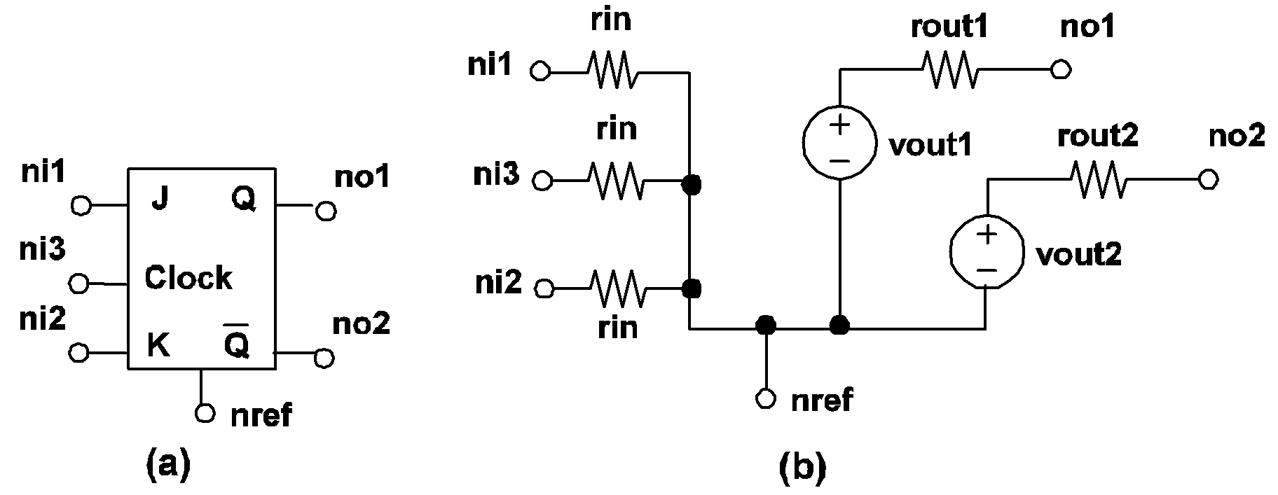 Simplis Reference Device Models Used In J K Flip Flop Circuit Diagram 414 Clocked Model A Symbol For B