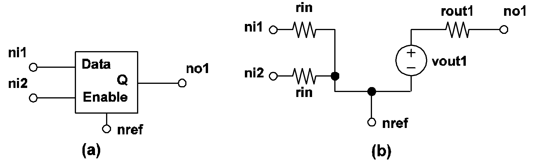 Simplis Reference Device Models Used In Ac Current Source Symbol Define Active And Passive Circuit Elements 417 Latch Model A For B