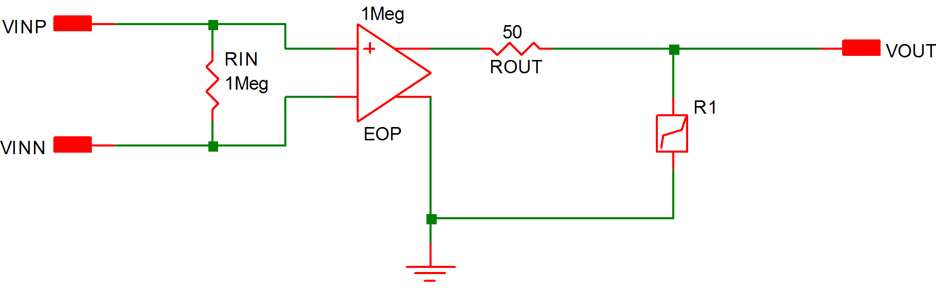 Simplis Reference Example 3 Operational Amplifier With Saturation Thevenin 97b Piecewise Linear Equivalent Circuit