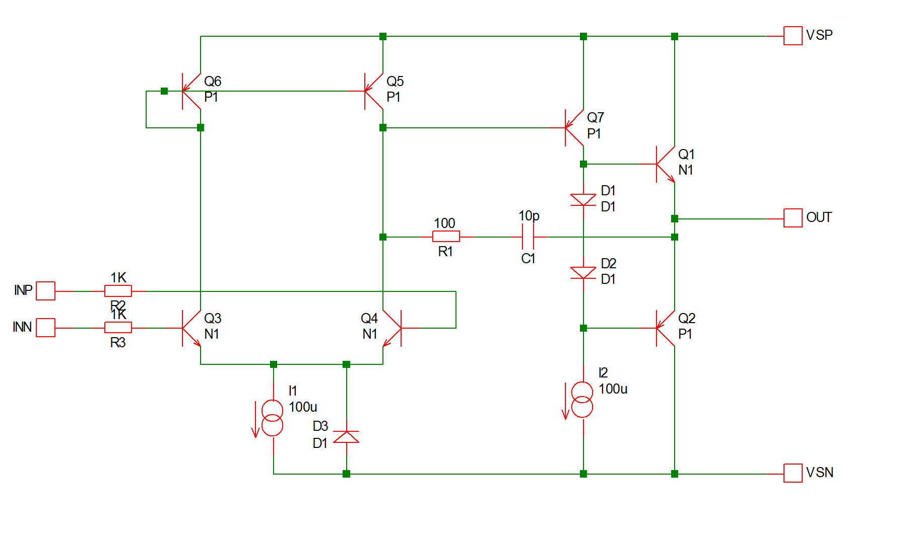 User Manual Subcircuits Block Diagram Of N1 Multiplexer This Is Circuit A Simple Op Amp In Fact It The Our Fictitious Sxoa1000 Used Tutorial 3